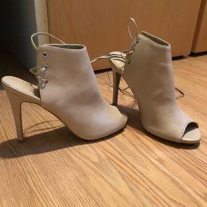Wild Diva Beige open-toed heels